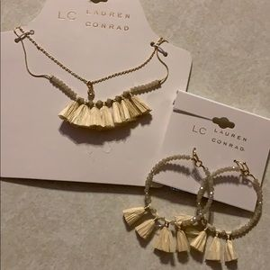 "Lauren Conrad 16"" Necklace/Earrings"